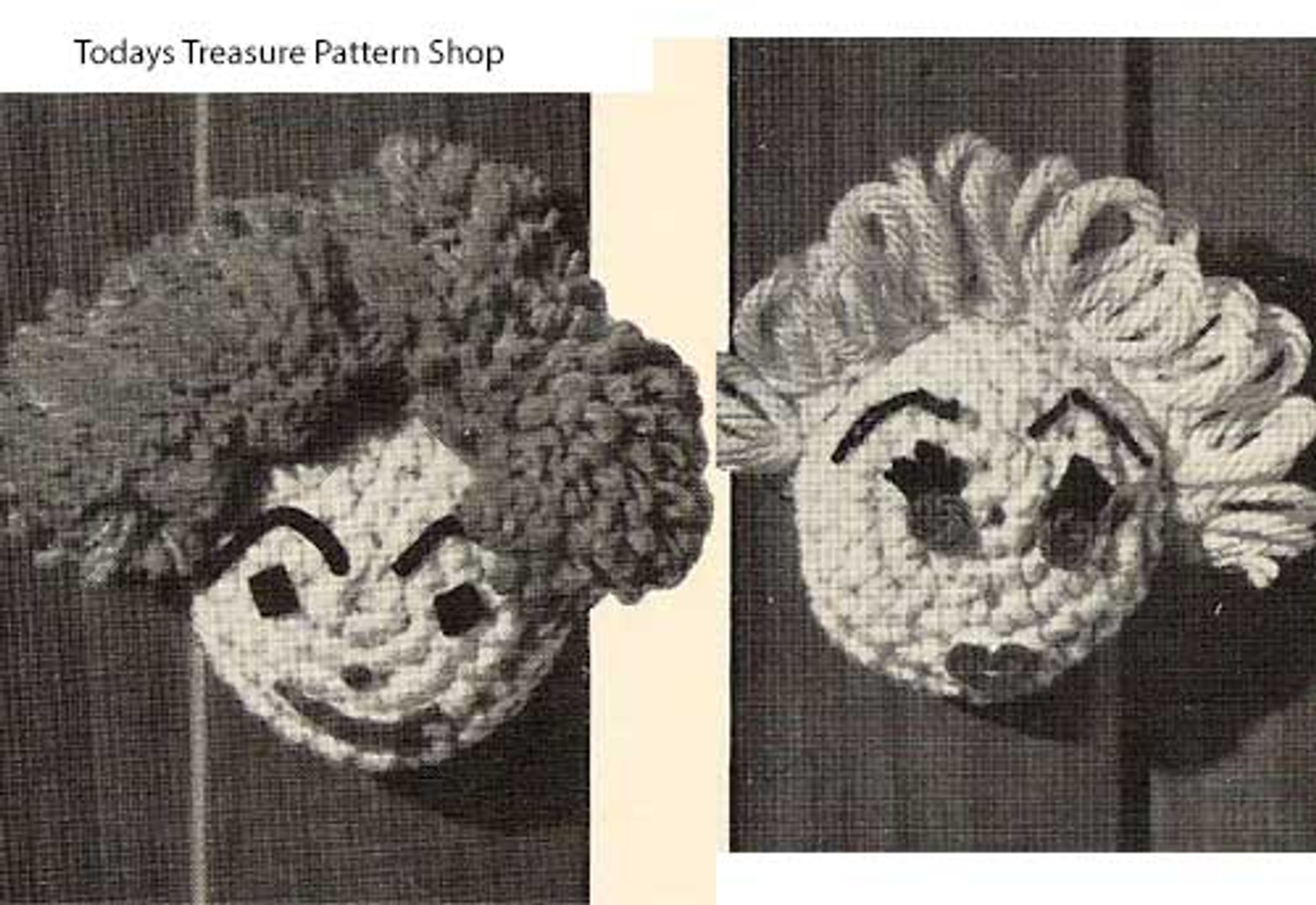 Crochet Pattern Face Doorknob Covers