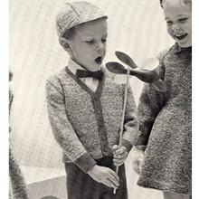 Toddler Knitted Cardigan Vintage Pattern