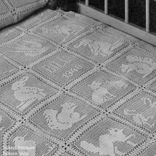 Animal Block Filet Crochet Baby Blanket Pattern