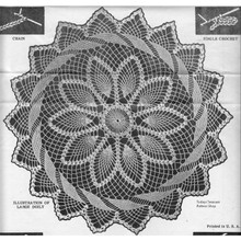 Pineapple Flower Doily pattern with ring border