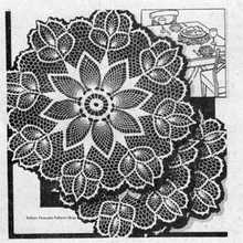 Vintage Crocheted Pineapple Tulips Doily pattern Design 3007