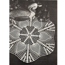 Centerpiece Crocheted Pineapple Doily Pattern