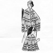 Ripple Crochet Poncho Pattern