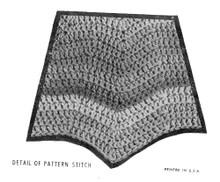 Ripple Poncho Crochet Stitch Illustration