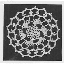 Round Crochet Flower Medallion Pattern