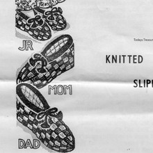 Family Knitted Slippers Pattern