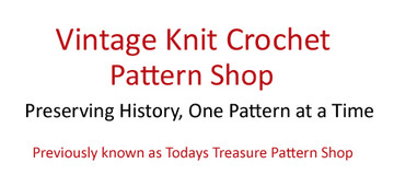 Vintage Knit Crochet Pattern Shop