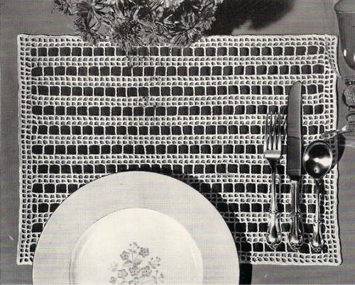 Ribbon Weave Filet Crochet Mats Pattern