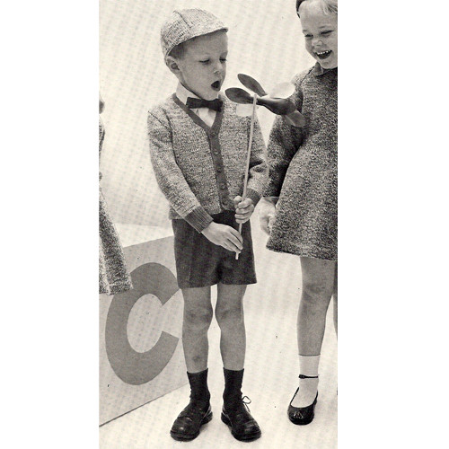 Little Boys Knit Sports Jacket Pattern