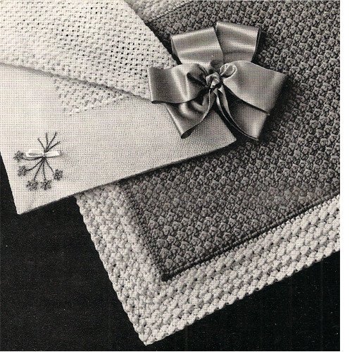 Two Knitted Baby Blanket Patterns from American Thread