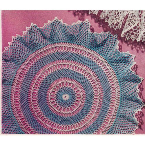 Two Color Hairpin Lace Doily Pattern
