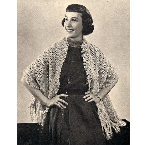 Fringed Hairpin lace Stole Pattern