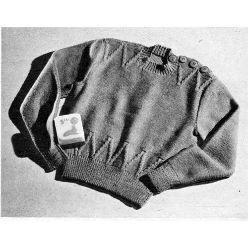 Childs Vintage Knitting Patter for Long Sleeve Pullover