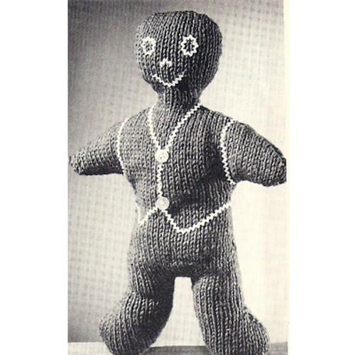 Knitting Pattern Free Gingerbread Man Toy