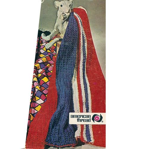 Vintage Stripe Afghan Crochet Pattern