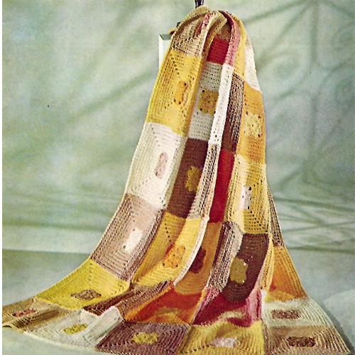 Beginners Block Crochet Afghan Pattern