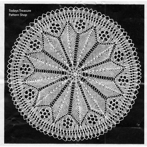 Knitted Patricia Doily Pattern from Anna Marie Jensen