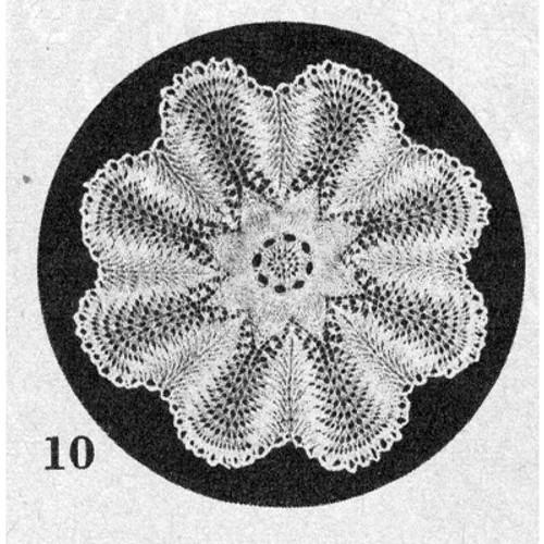 Knitting Pattern Vintage Doily No 10