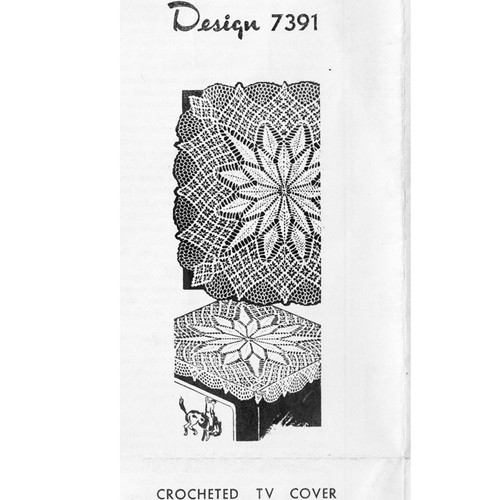 Centerpiece Doily or Cloth Crochet Pattern Design 7391