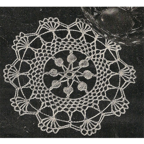 Scalloped Shell Crochet Doily Pattern