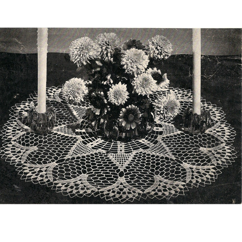 Vintage Crocheted Hearts Doily Pattern