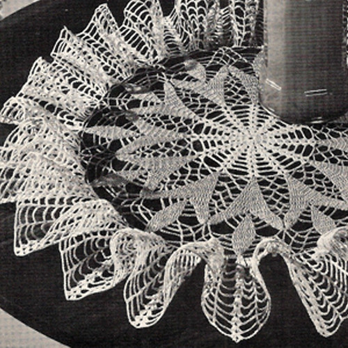 Ruffled Spring Crocus Crocheted Doily Pattern