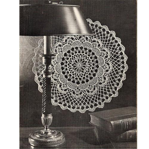 Deep Lagoon Vintage Crochet Doily Pattern