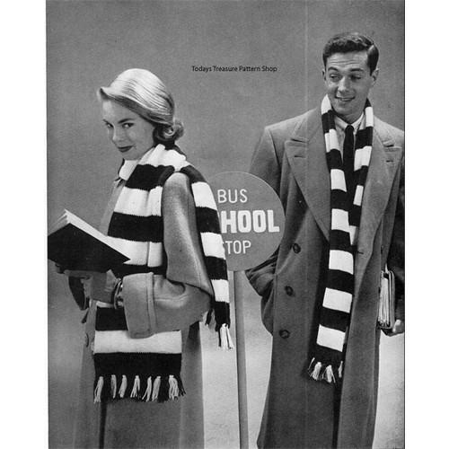 Free Striped Scarf Knitting pattern