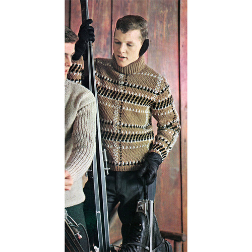 Mens Turtleneck Ski Sweater Pattern