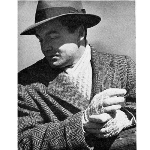 Free Knitting Pattern, String Gloves & Scarf for Men