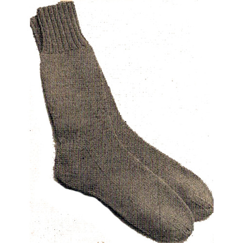 Mans Knitted Socks Pattern from Workbasket