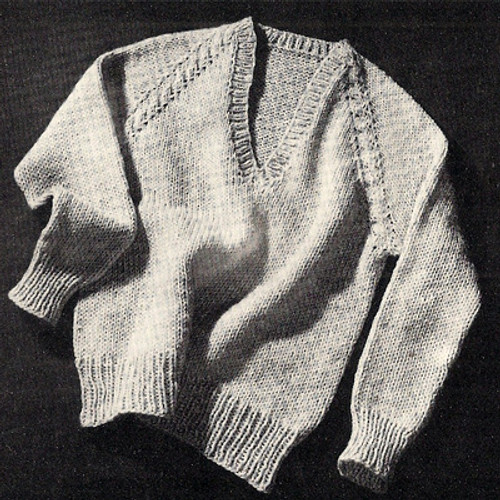 Mans Vintage Raglan Sweater Pattern from Coats & Clarks