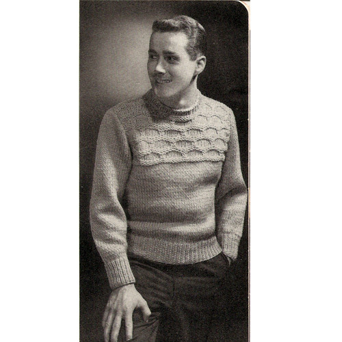 Mans Textured Sweater Knitting Pattern