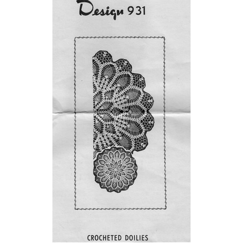 Mail Order Design 931, Crocheted Pineapple Doilies