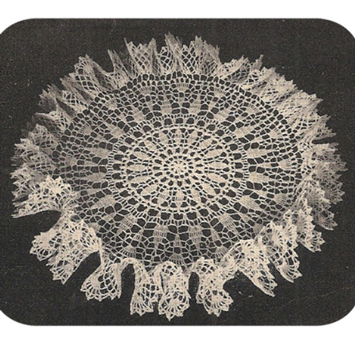 Small Ruffle Crocheted Doily Pattern