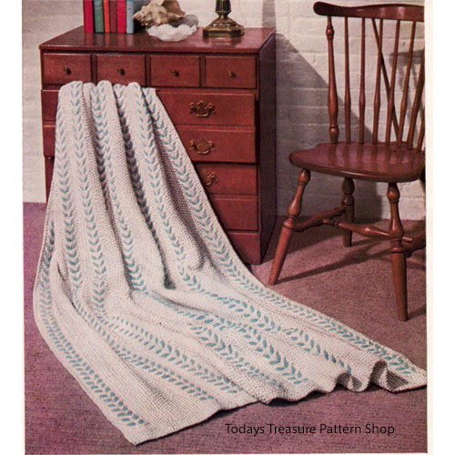 Knitting Pattern Laurel Striped Afghan