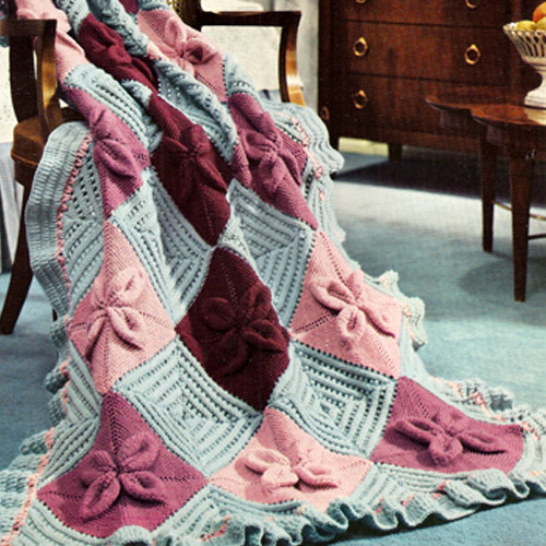 Nantucket Block Knitted Afghan Pattern