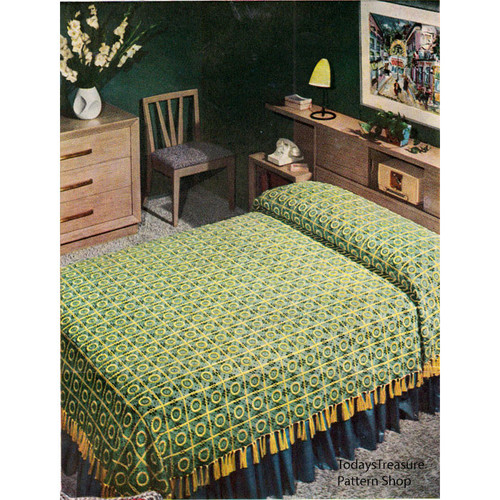 Vintage Crochet Bedspread Pattern known as Pennsylvania Modern