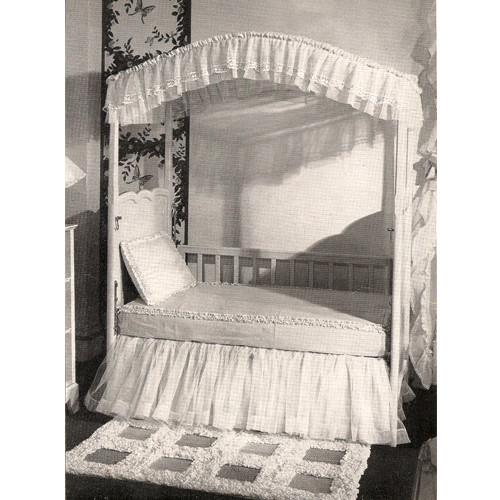 Crochet Ruffled Bedspread Edging Pattern