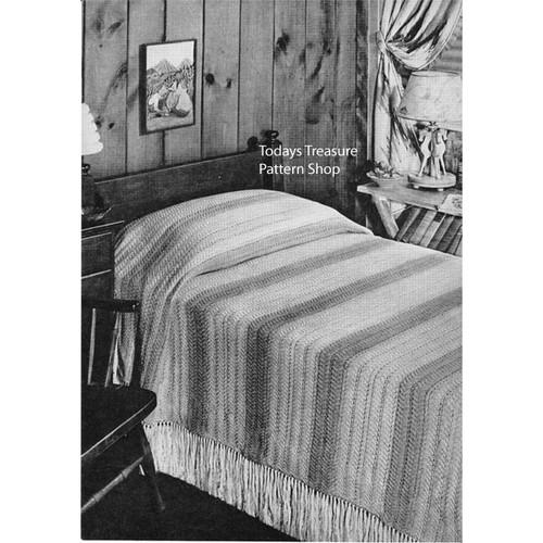 Striped Bedspread Knitting pattern