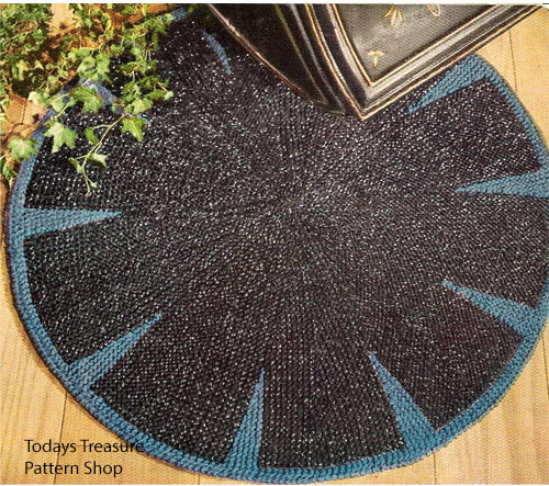 Knitting Pattern for Round Rug