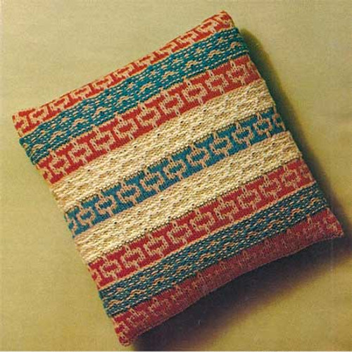 Vintage Knitting Pattern for Striped Pillow