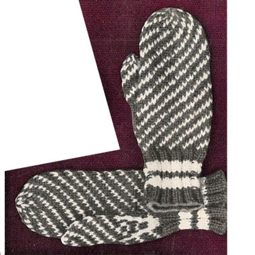 Knitting Pattern for Striped Mittens