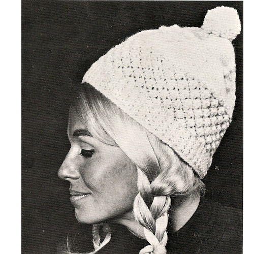 Knitted Conical Hat Pattern from Bernat