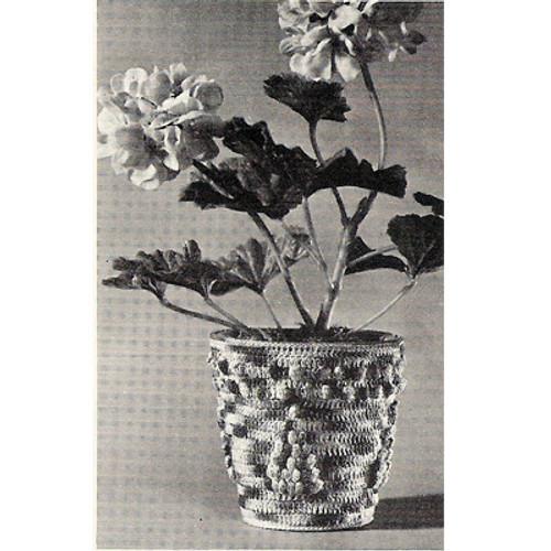 Free Crocheted Flower Pot Pattern