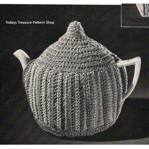 Crochet Teapot Cozy Pattern, Vintage 1950s