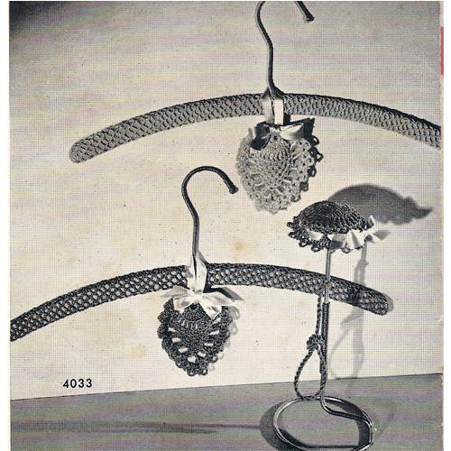 Crochet Coat Hanger Covers Pattern