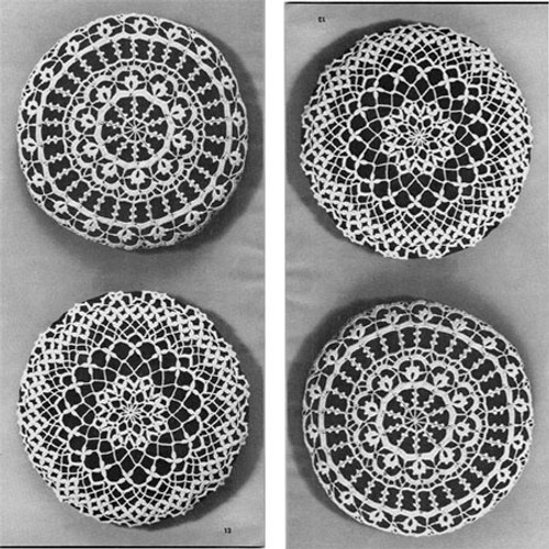 Vintage Lace Crocheted Round Pillows Pattern