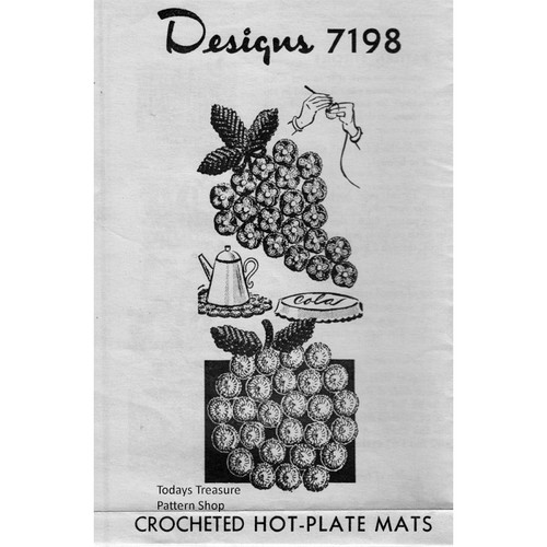 Mail Order Design 7198, Bottle Cover Mats Crochet pattern