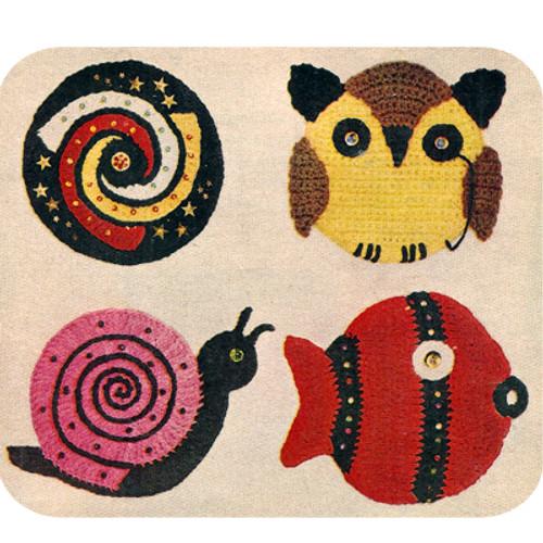 Crochet Snail Fish Potholder Pattern
